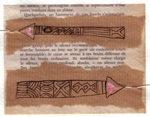 série éducation sentimentale : collage et dessin sur papier