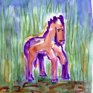 Cheval arche violet