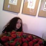 Jeune fille, Fillettes, fraises