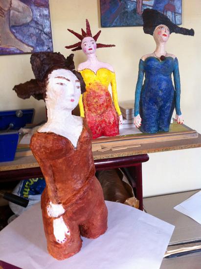 Flopée Ambre - Sculptures - femmes - technique mixte