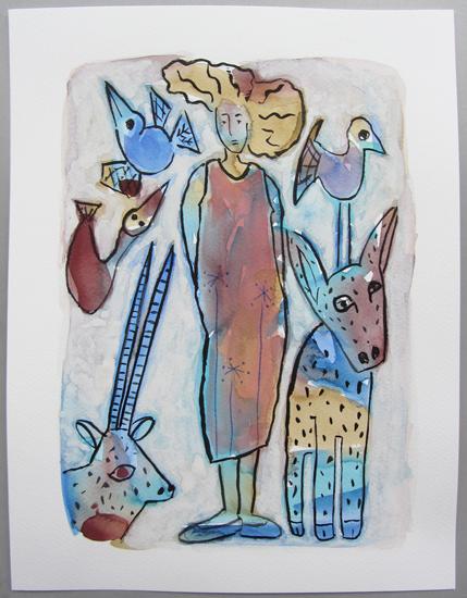 Oiseau Bleu - Femme - Nature - Animaux