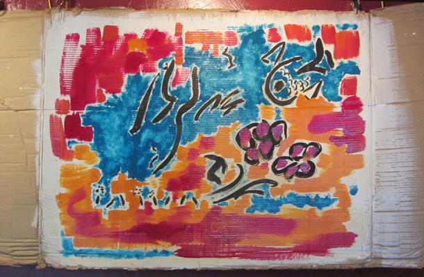 Jubilations - bleue - Peinture