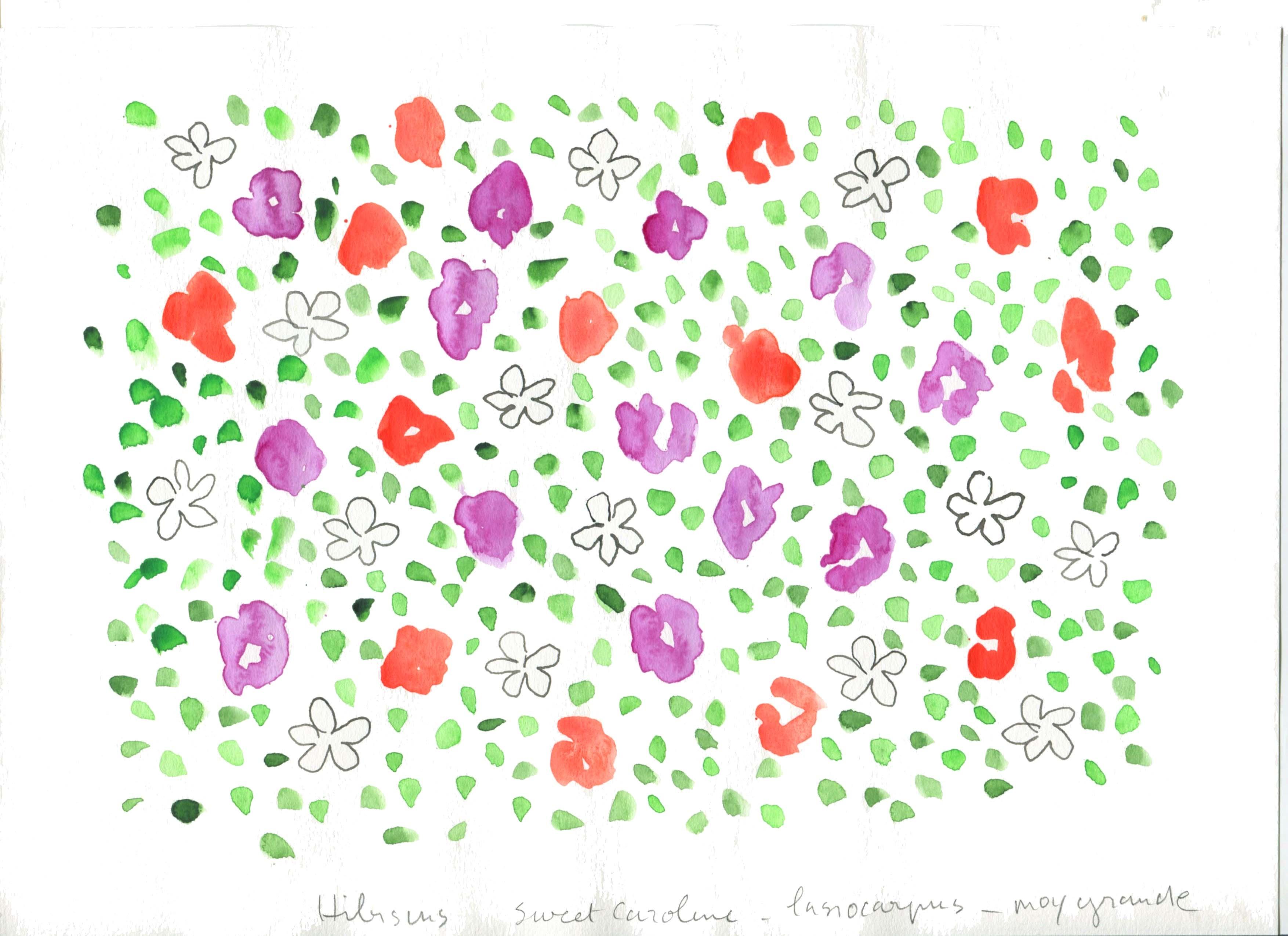 Motifs - fleurs - Végétal - Aquarelle
